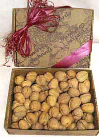 Raw Walnuts In The Shell